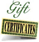 Gift Certificate value $20